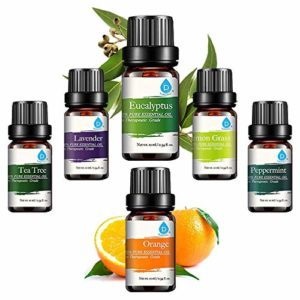 Pursonic 100% Pure Essential Aromatherapy Oils Gift Set-6 Pack , 10ML(Eucalyptus, Lavender, Lemon grass, Orange, Peppermint, Tea Tree)_5e27a97450008.jpeg